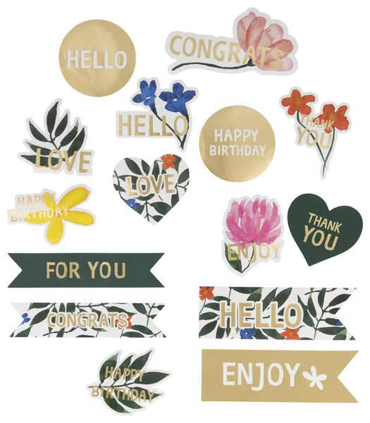 Image of HEMA 15 Stickers Flowers
