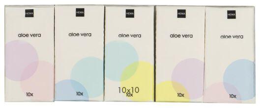 10 x 10 mouchoirs aloe vera - 11511110 - HEMA