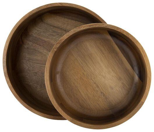 dish - Ø 23.5 cm - acacia wood - 80610202 - hema