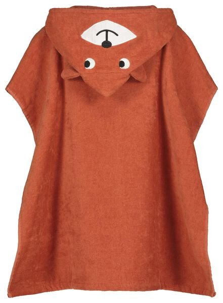 kinderstrandponcho velours eekhoorn - 5210125 - HEMA