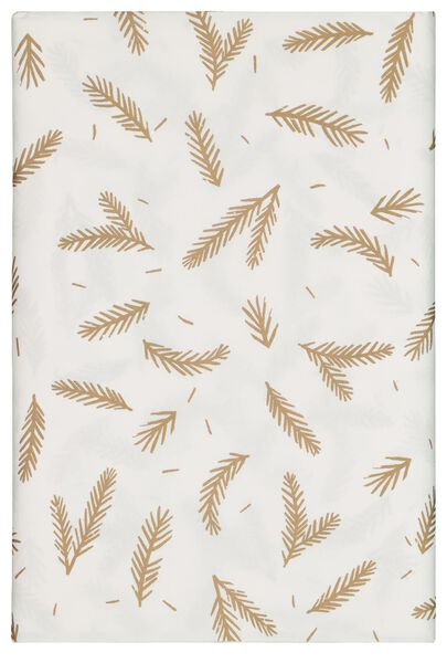 tablecloth paper 138x280 white with leaves - 25600153 - hema