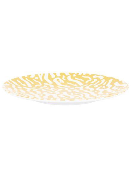 petite assiette - - Ø 21 cm - mélamine - jaune - 80610060 - HEMA