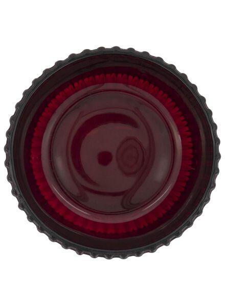 tea light holder - Ø 7 cm - ribbed - red - 13392096 - hema