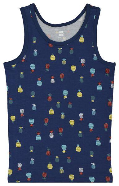 2-pack children's vests blue blue - 1000018077 - hema