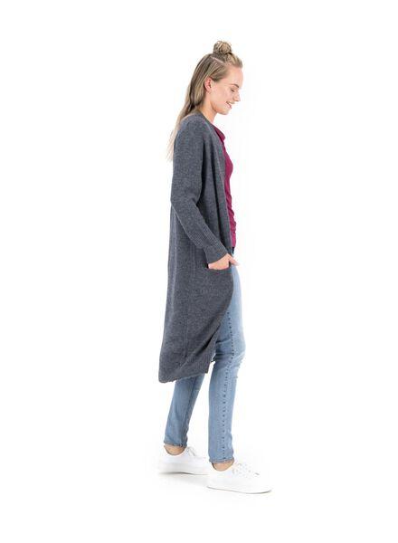 women's knitted cardigan dark blue dark blue - 1000014793 - hema