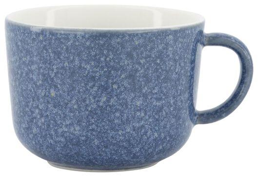 cappuccinomok Chicago 330 ml - reactief glazuur - blauw - 9602160 - HEMA