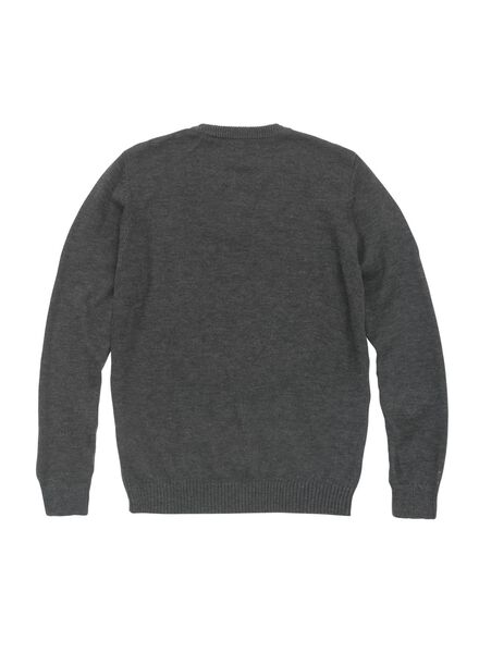 men's Christmas sweater grey melange grey melange - 1000006040 - hema