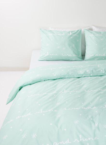 housse de couette-coton doux-240x220cm-vert imprimé bleu 240 x 220 - 5700149 - HEMA