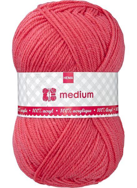 fil à tricoter medium medium 100 g rose fluorescent - 1400049 - HEMA