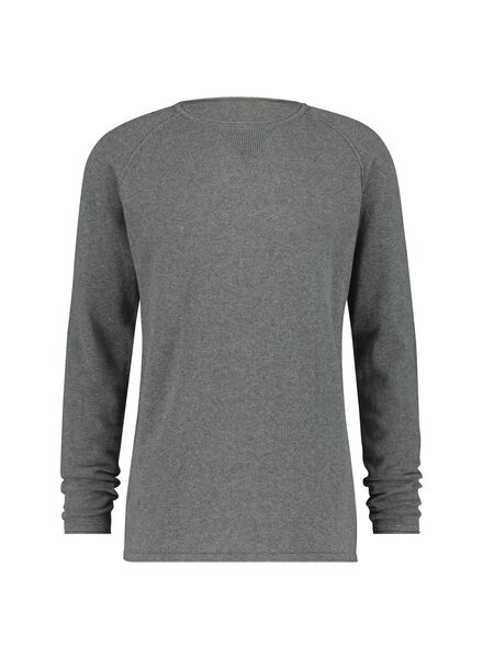 knitted men's sweater - organic cotton grey grey - 1000016882 - hema