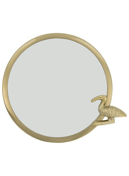 mirror with ibis Ø 18 cm - gold - 13392054 - hema