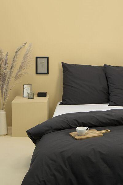 Bettwäsche, Soft Cotton, einfarbig dunkelgrau dunkelgrau - 1000014135 - HEMA