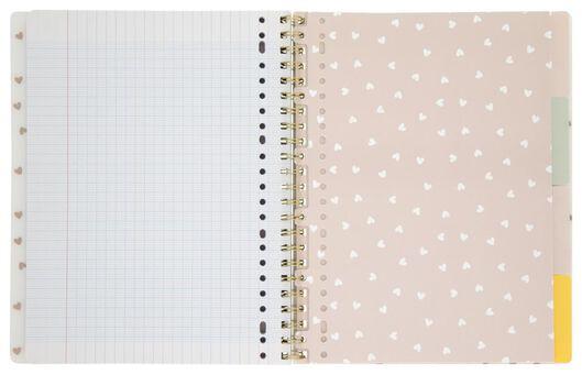 cahier à spirale 4-en-1 A4 à grands carreaux (Seyès) - 14590271 - HEMA