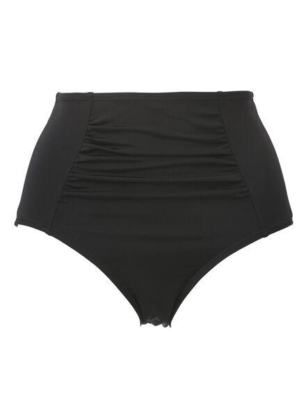 Bademode für Frauen - HEMA Figurformender Damen Bikinislip Mit Hoher Taille Schwarz  - Onlineshop HEMA