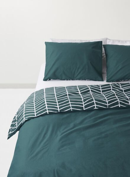 housse de couette soft cotton vert foncé vert foncé - 1000015520 - HEMA
