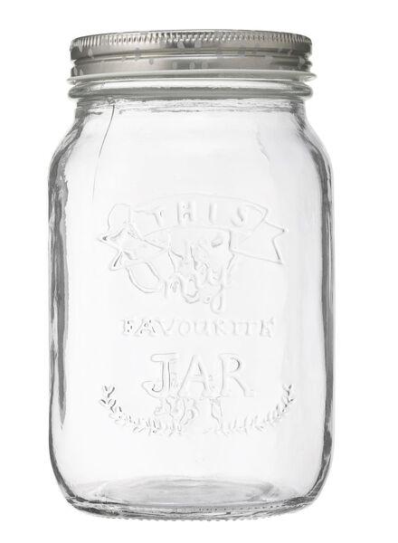 glazen pot 1 liter - 80810201 - HEMA