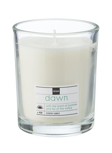 bougie parfumée dans un verre dawn - 13502311 - HEMA