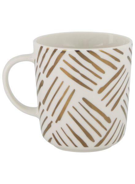 mug - 280 ml - Chicago - white with gold-coloured stripes - 9602084 - hema