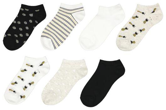 HEMA 7 Paires De Socquettes Femme Abeilles Blanc (blanc)