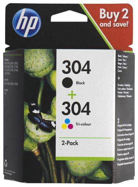cartridge HP 304 zwart/kleur - 2 stuks - 38300105 - hema