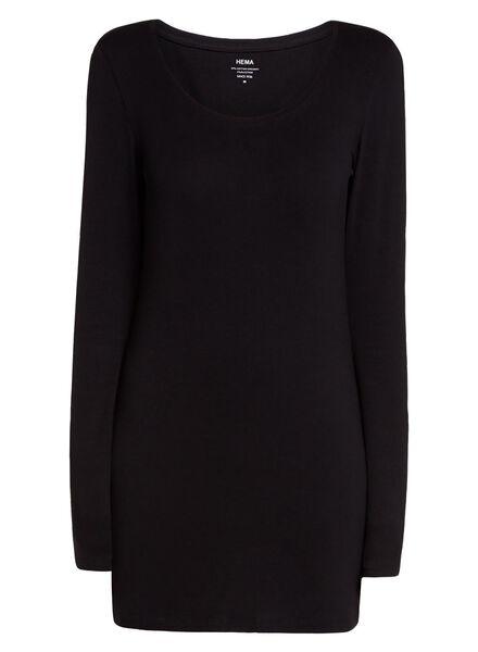 t-shirt femme noir noir - 1000005131 - HEMA