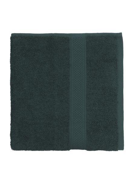 serviette de bain - 60x110 cm - qualité épaisse - vert foncé vert foncé serviette 60 x 110 - 5220014 - HEMA