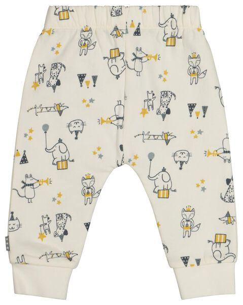 newborn sweatbroek circus wit wit - 1000021809 - HEMA