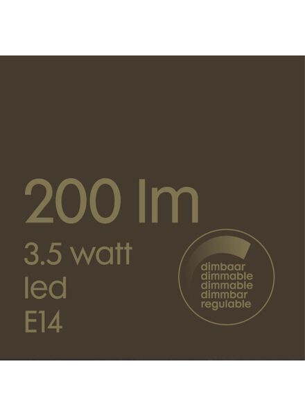 LED lamp 3.5W - 200 lm - candle - gold - 20020074 - hema
