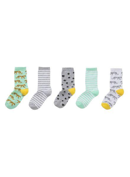 5er-Pack Kinder-Socken hellblau hellblau - 1000011715 - HEMA