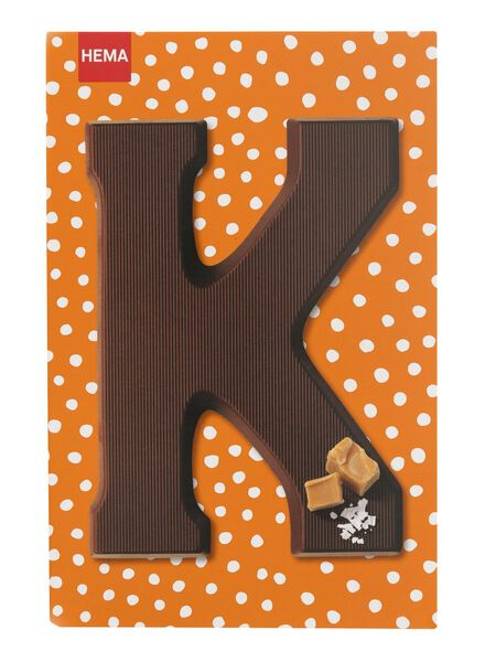 caramel sea salt milk chocolate letter K - 10039011 - hema