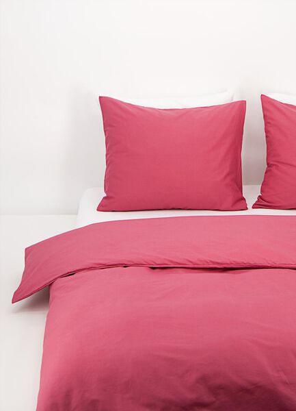 Bettwäsche, Soft Cotton, einfarbig dunkelrosa dunkelrosa - 1000017569 - HEMA