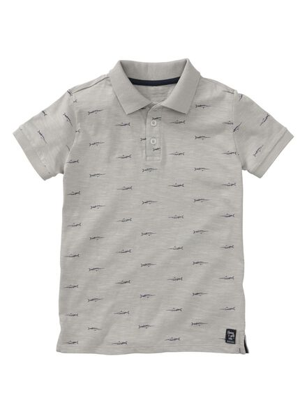 children's polo shirt grey melange grey melange - 1000007436 - hema