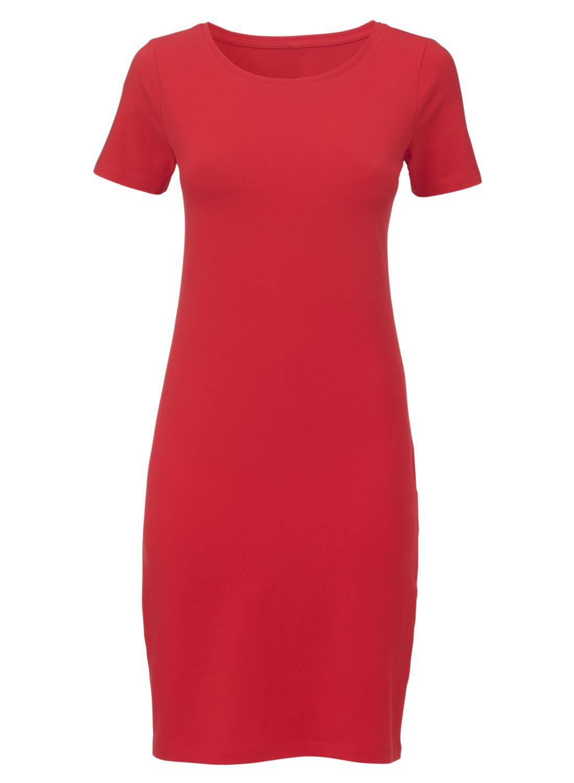 dames jurk rood