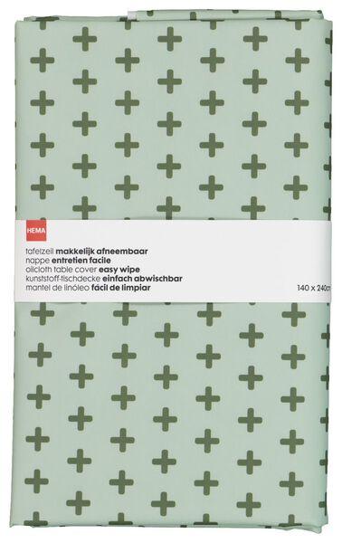 toile cirée - 140x240 - polyester - plus blancs - 5300101 - HEMA