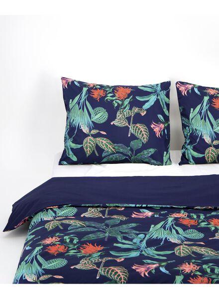 duvet cover - hotel satin cotton - botanical dark blue - 1000016618 - hema
