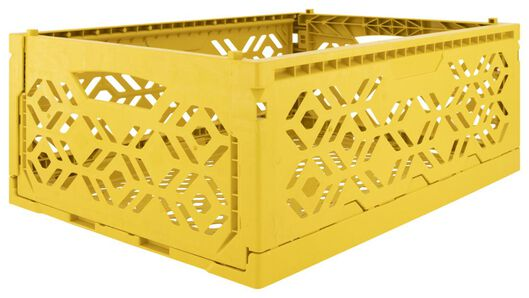folding crate recycled 30x40x15 - yellow ochre - 39821054 - hema
