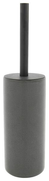 toilet brush holder - Ø9.5x22cm - reactive ceramic - anthracite - 80310010 - hema