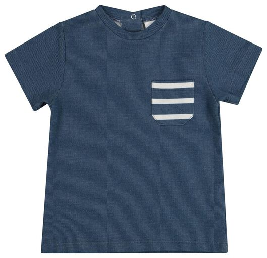 baby T-shirt blue blue - 1000019761 - hema