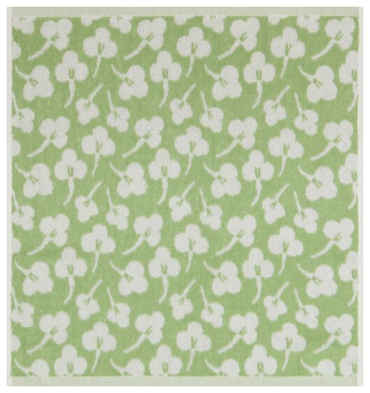 Küchenhandtuch, 50 x 50 cm, Baumwolle, Veilchen, hellgrün - 5410120 - HEMA