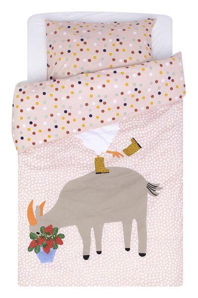 toddler duvet cover 120x150 soft cotton goat/chicken - 5720153 - hema