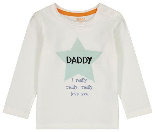 t-shirt nouveau-né daddy blanc cassé blanc cassé - 1000024202 - HEMA
