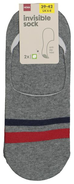 men's socks invisible grey melange grey melange - 1000018892 - hema