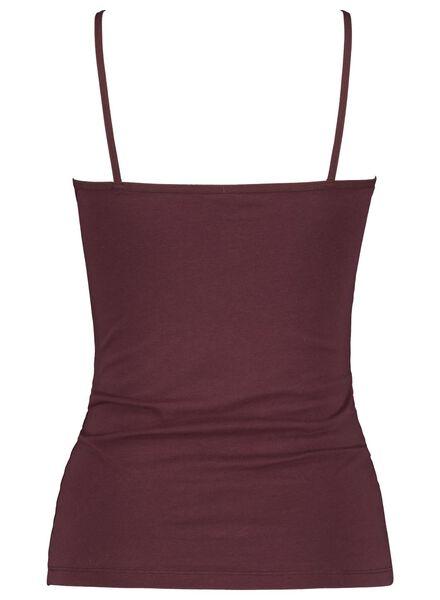 Damen-Hemd, Baumwolle dunkelrot dunkelrot - 1000013985 - HEMA