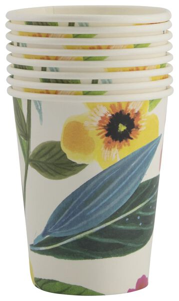 8er-Pack Pappbecher Blumen, 250 ml - 25800133 - HEMA