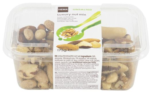 luxury mix of unsalted nuts - 10654461 - hema