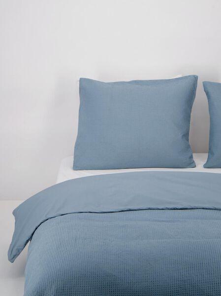 housse de couette coton gaufrage gris-bleu bleu - 1000021845 - HEMA