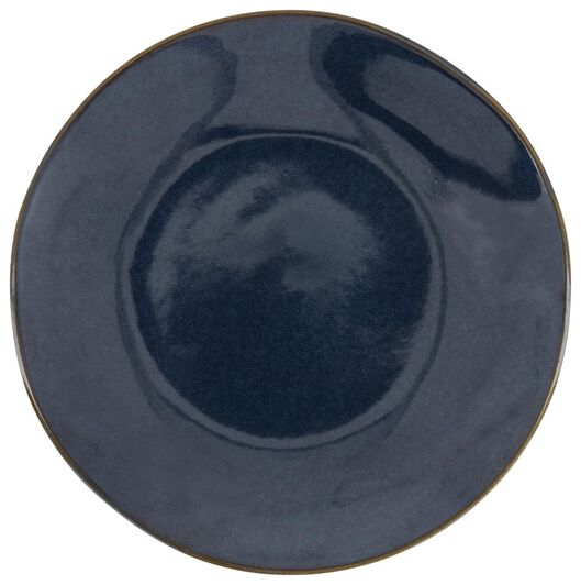 breakfast plate - 20 cm - Porto - reactive glaze - dark blue - 9602216 - hema