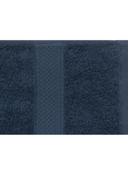 serviette de bain-70x140 cm-qualité épaisse-denim uni - 5240182 - HEMA