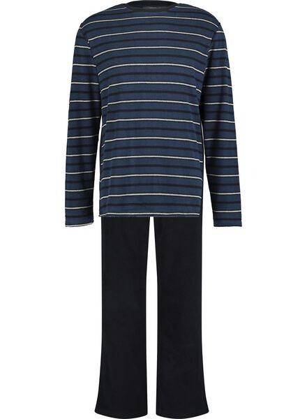 Herren-Pyjama blau blau - 1000014684 - HEMA