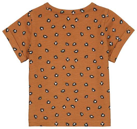 Newborn-T-Shirt, Animal braun 74 - 33417215 - HEMA